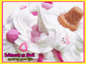 Cute weet JEWEL CASE candies icecream marshmallows