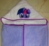Accappatoio a mantello My Little Pony (Twilight Sparkle)