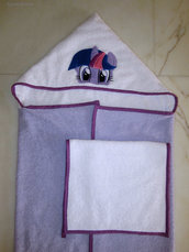 Set accappatoio a mantello *My Little Pony* (*Twilight Sparkle*) + asciugamano mani/viso