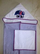Set accappatoio a mantello *My Little Pony* (*Twilight Sparkle*) + asciugamano mani/viso