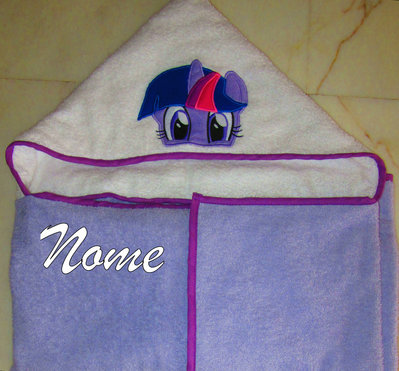 Accappatoio a mantello My Little Pony (Twilight Sparkle) personalizzato