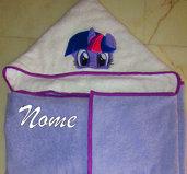 Accappatoio a mantello My Little Pony (Twilight Sparkle) personalizzato