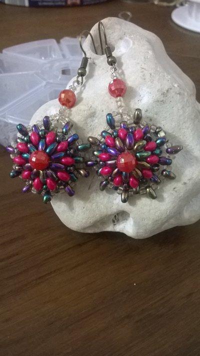 Orecchini perline superduo