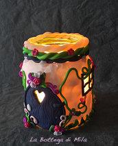 Lanterna Casa delle Fate Fatine, porta candela, candele, decorazioni per la casa, giardino, romantico, fantasy world