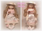 "Cloth Doll MaisLu ""Rose"" - Bambola in stoffa"