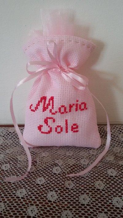 """Inserzione riservata  sacchettini punto croce """"Maria Sole"""""""