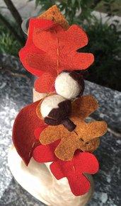 Cerchietto con foglie autunnali
