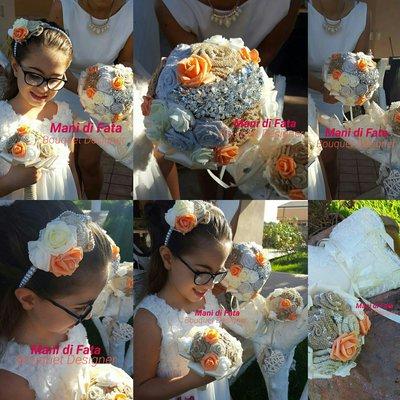 Bouquet da sposa + damigella coordinato