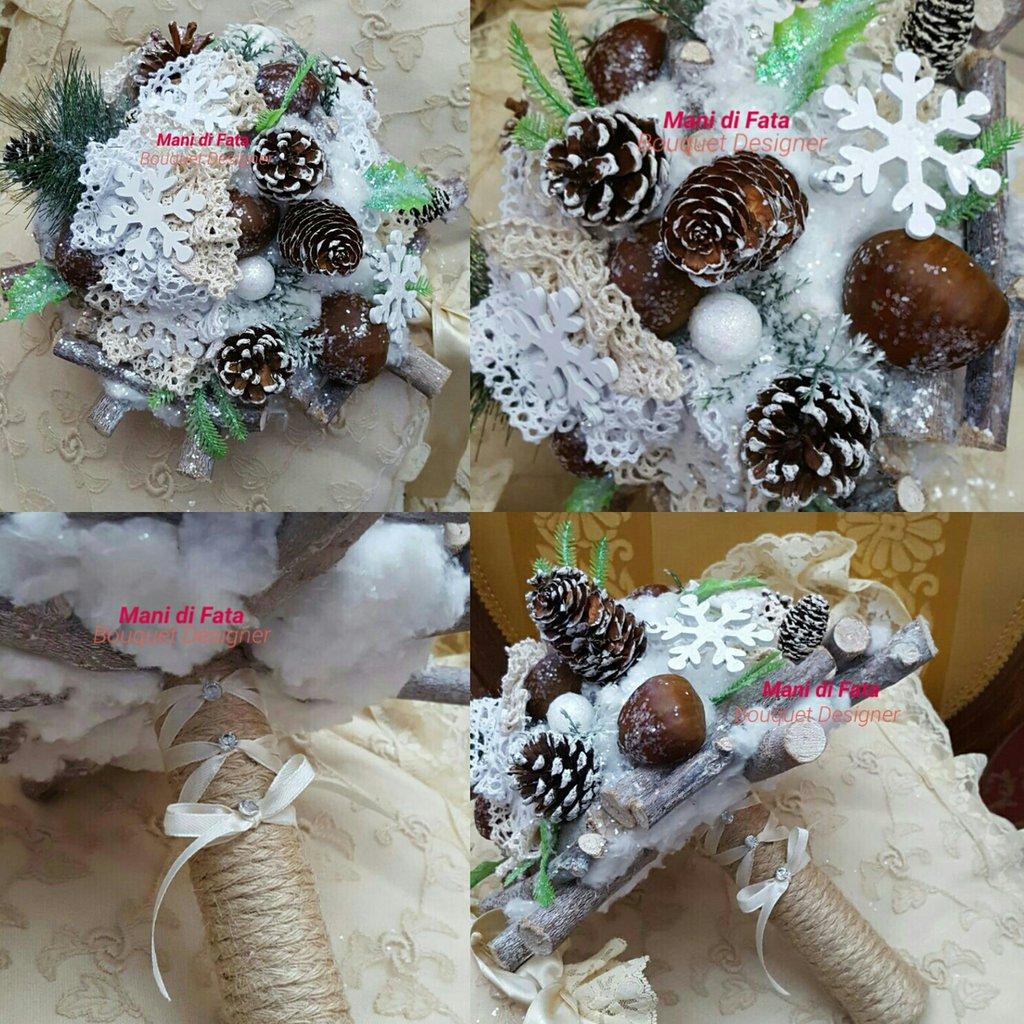 Bouquet da sposa alternativo invernale