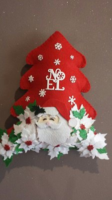 dietro porta natalizio albero natale