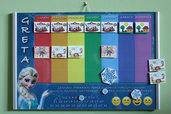 Calendario planner per bambini, tema Frozen