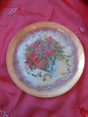 piatto natalizio decorato a mano