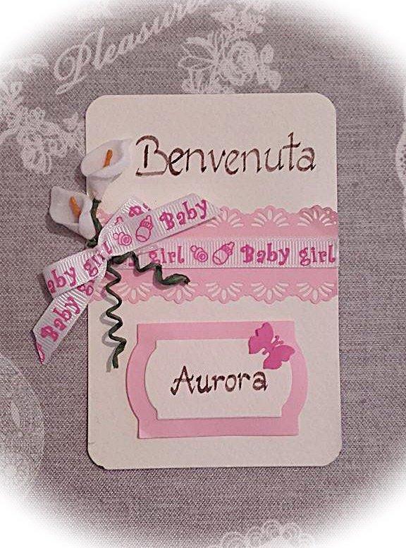 Bigliettino di benvenuto per nascita