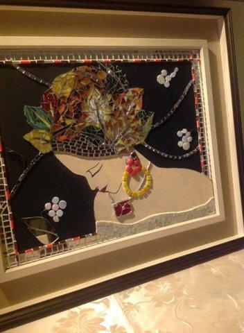 """Quadro in MOSAICO  -  """"Mrs Autumn"""""""