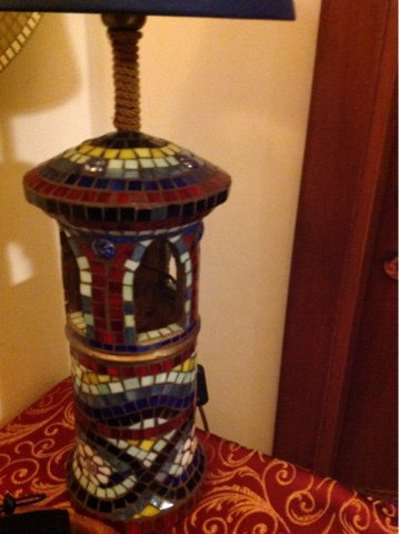 """LAMPADA in mosaico  """"Il Comignolo"""""""
