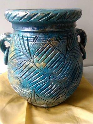 vaso dipinto a mano