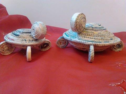 tartarughe porta oggetti