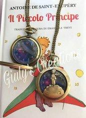 Collana orologio IL PICCOLO PRINCIPE le petit prince book stelle galassia anime cartoni animati the little prince