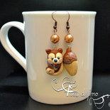 orecchini fimo| orecchini autunno fimo| orecchini autunno| orecchini pendenti| gioielli fimo | polymerclay earrings| orecchini scoiattolo| orecchini ghianda| gioielli autunno| autunno|