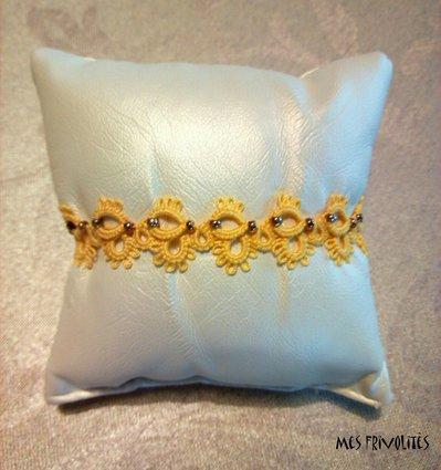 Braccialetto in pizzo chiacchierino Daffodil Med. con perline BP5DMC