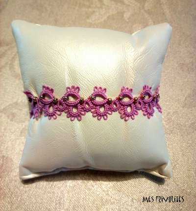 Braccialetto in pizzo chiacchierino Violet/Pink Med. BP5VPMC