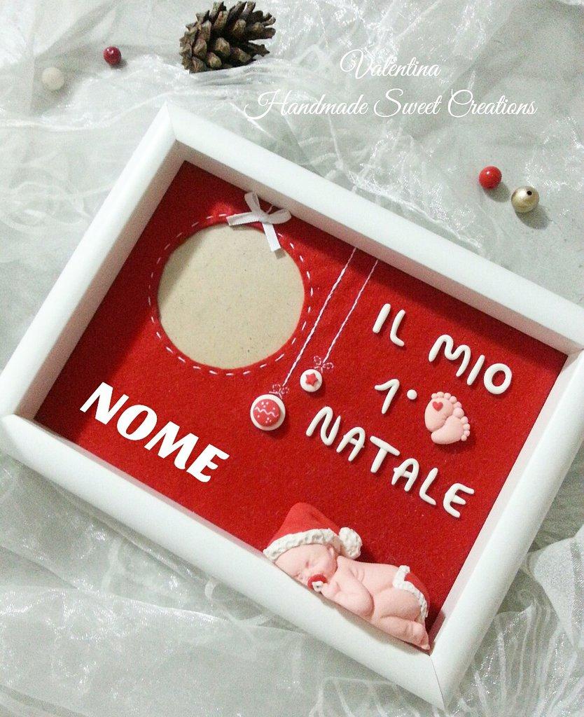 Quadretto portafoto bebè- regalo di Natale