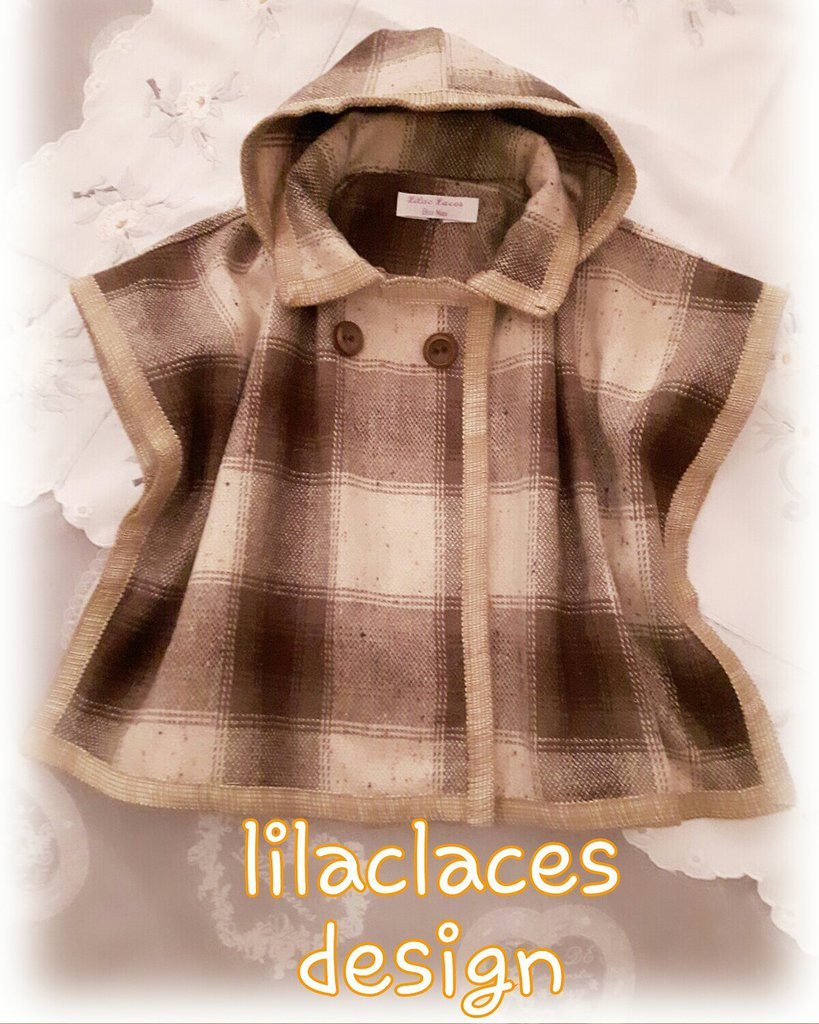 cartamodello mantellina lana bimbo bimba anni 2 a 6