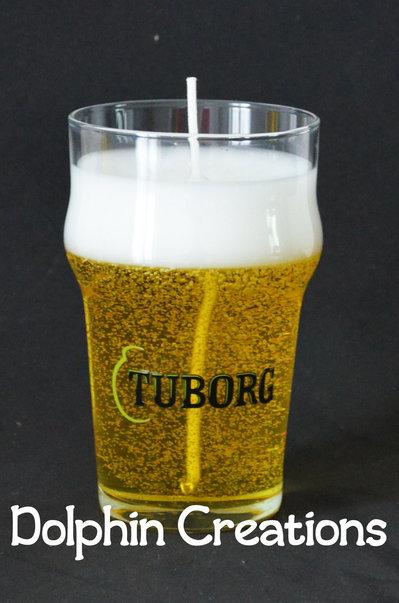 "Candela profumata birra ""Tuborg"""
