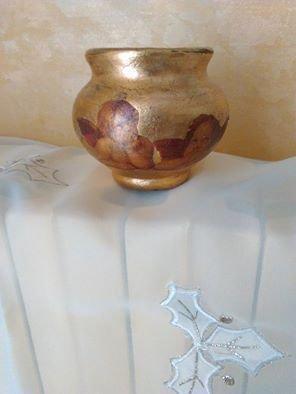 piccolissimo vaso in foglia oro