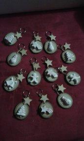 Portachiavi rustici natalizi