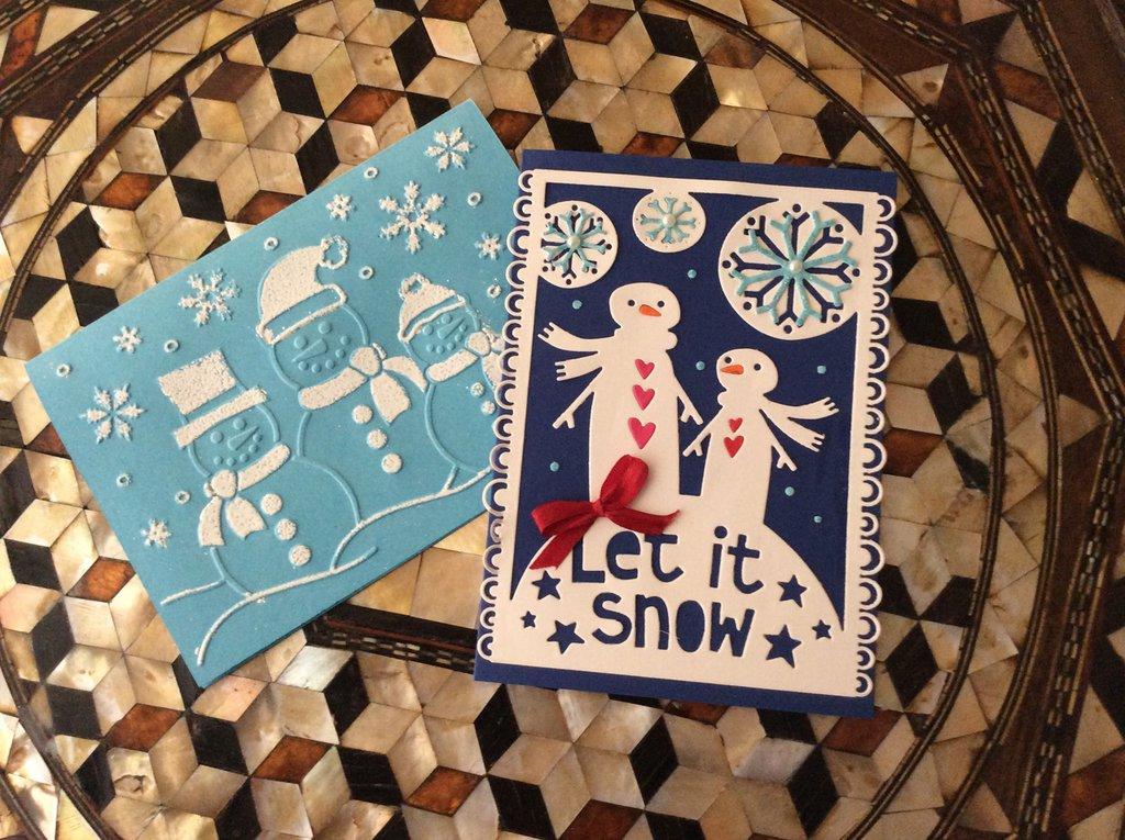 Biglietti Natale let it snow