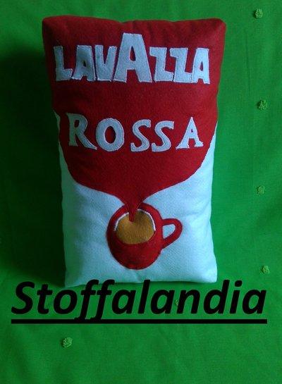 CUSCINO PACCHETTO CAFFE' LAVAZZA QUALITA' ROSSA IDEA REGALO NATALE