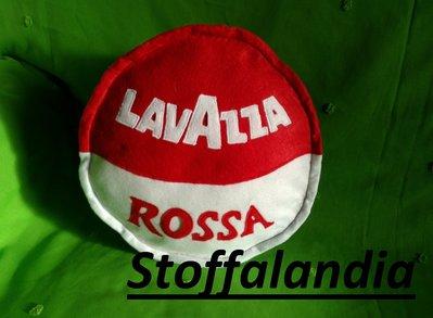 CUSCINO CIALDA CAFFE' LAVAZZA ROSSA IDEA REGALO NATALE