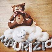 Fiocco nascita orsetto e nuvola
