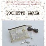 DIY - Cartamodello con spiegazioni per realizzare una pochette in formato PDF (con pannello decorativo in crazy patchwork))