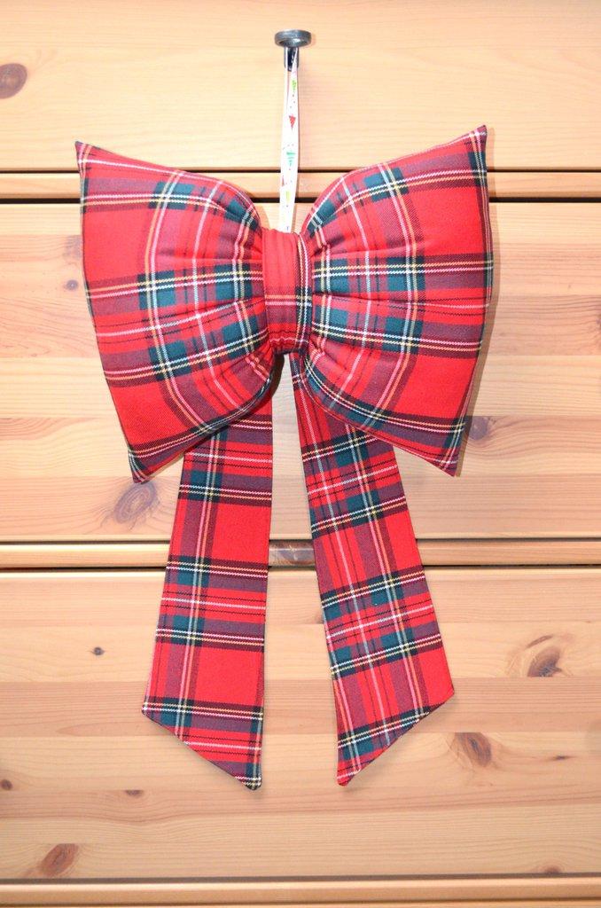 Fiocco natalizio in fantasia scozzese