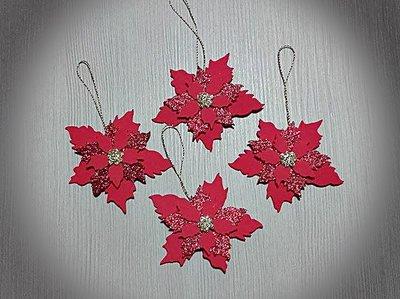 4 stelle di Natale decorative