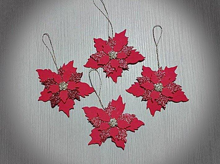 4 Stelle Di Natale Decorative Feste Natale Di Parentesi