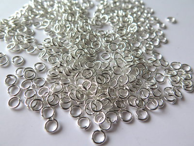 Anellini silver plated 5 mm   FER3