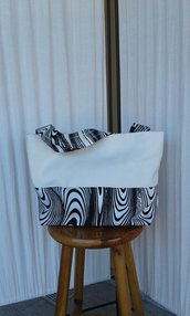 Borsa zebrata elegante