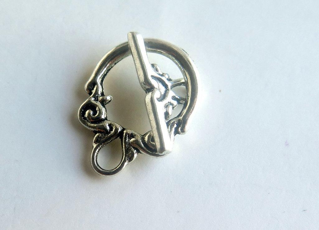 Chiusura per braccialetti in argento tibetano FER 33