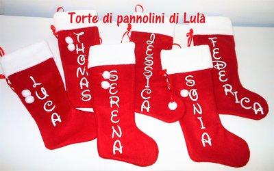 Calza Natale Epifania- Personalizzata con Nome- Idea regalo originale