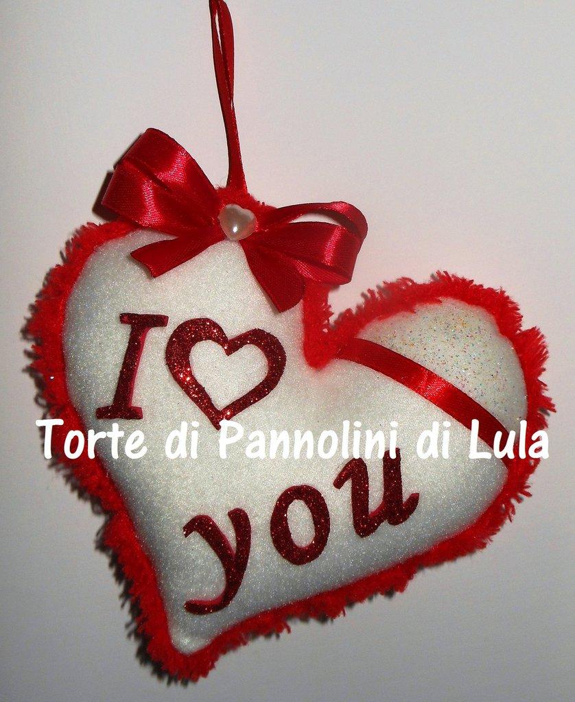 San Valentino Cuore imbottito + dedica/nome. Idea regalo romantica originale ragazza amore