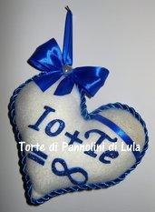 Natale San Valentino Cuore imbottito + dedica/nome. Idea regalo romantica