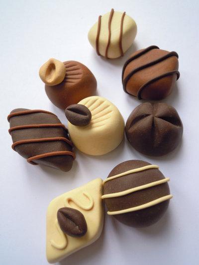 cioccolatini assortiti in fimo
