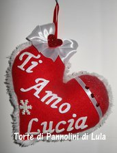 Idea regalo San Valentino Cuore imbottito + dedica/nome. ragazza romantica anniversario