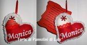 Idea regalo San Valentino Cuore imbottito + nome + lettera d'amore!!. Idea regalo romantica