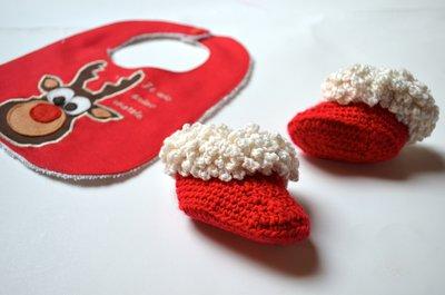 Stivaletti bianchi e rossi