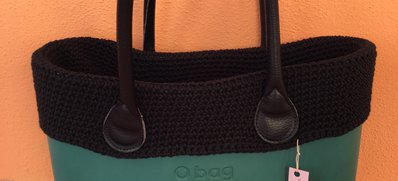 bordo COTONE con bordino O SENZA  obag compatibile o bag standard o mini uncinetto