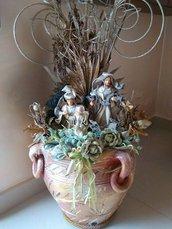 vaso con natività